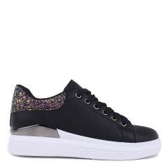 Γυναικεία Sneakers με glitter oem 85-715 ΜΑΥΡΟ