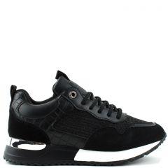 Γυναικεία sneaker με συνδυασμό υλικών OEM Ly339 ΜΑΥΡΟ