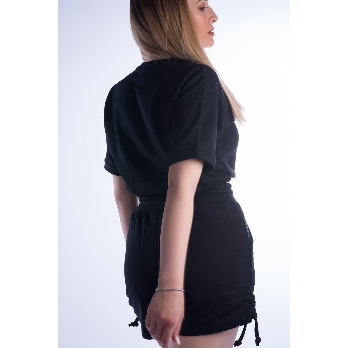 Μπλούζα T-shirt με λάστιχο oem z10101 ΜΑΥΡΟ